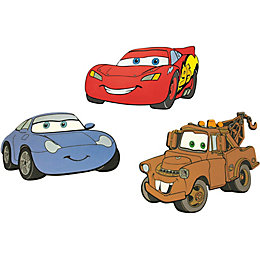 Decofun Cars Multicolour Self Adhesive Wall Sticker (L)300mm