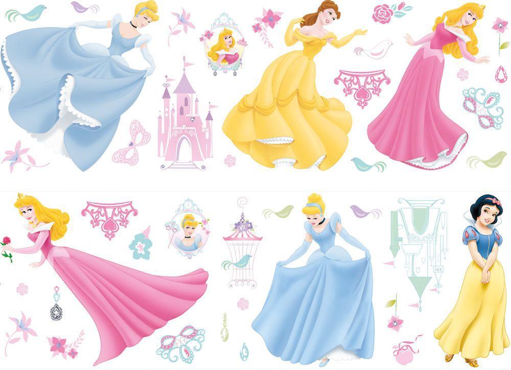 Disney Princess Multicolour Self Adhesive Wall Sticker (L)700mm (W)250mm |  Departments | DIY At Bu0026Q