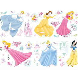 Disney Princess Multicolour Self Adhesive Wall Stickers (L)700mm