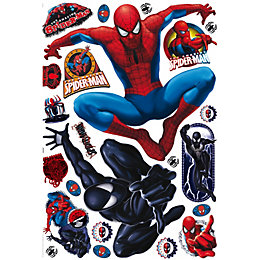 Marvel Spiderman Multicolour Self Adhesive Wall Sticker (L)1m