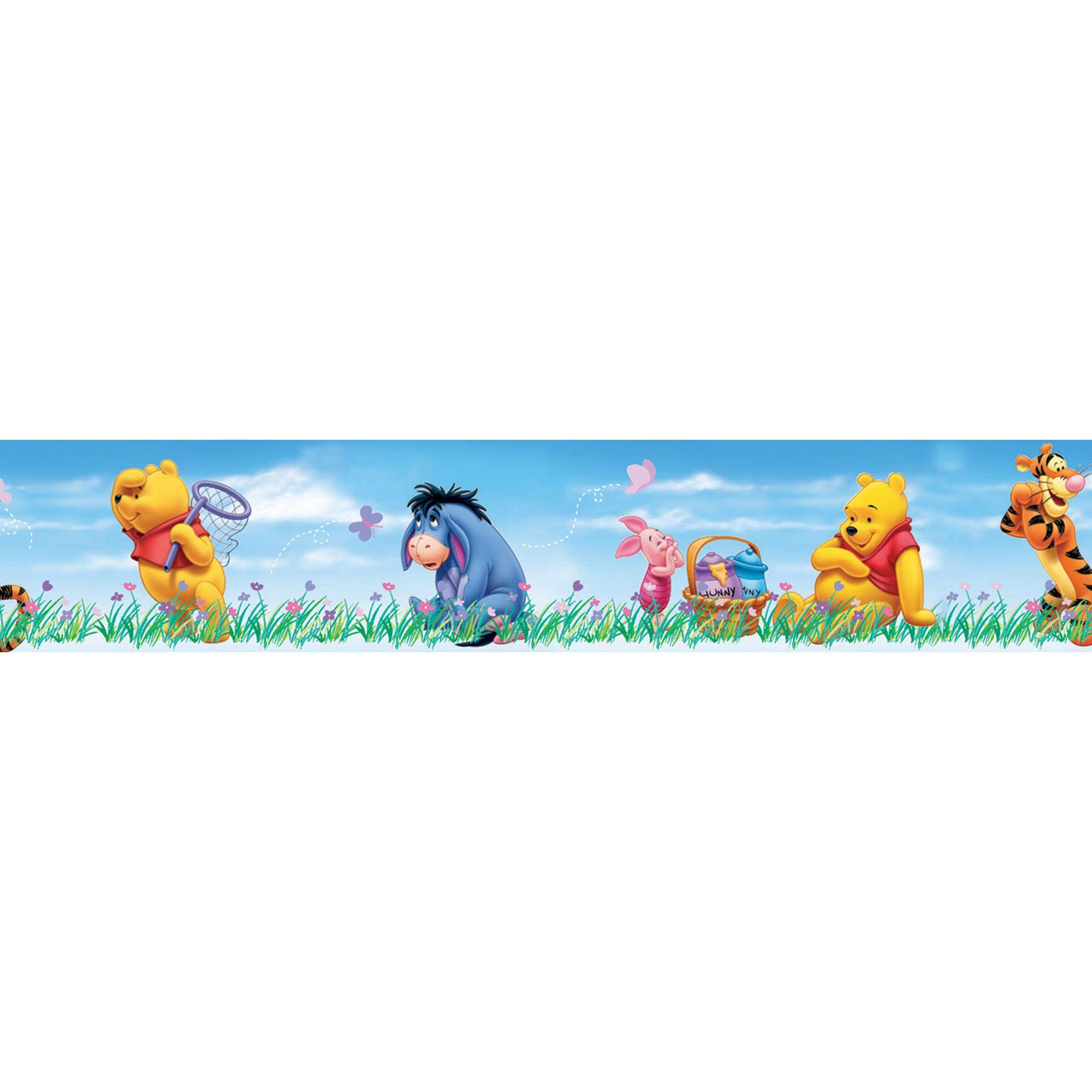 Baby Wall Sticker Disney Winnie The Pooh Multicolour Border Departments