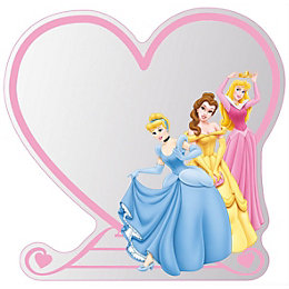 Disney Unframed Heart Children's Mirror (H)300mm (W) 300mm