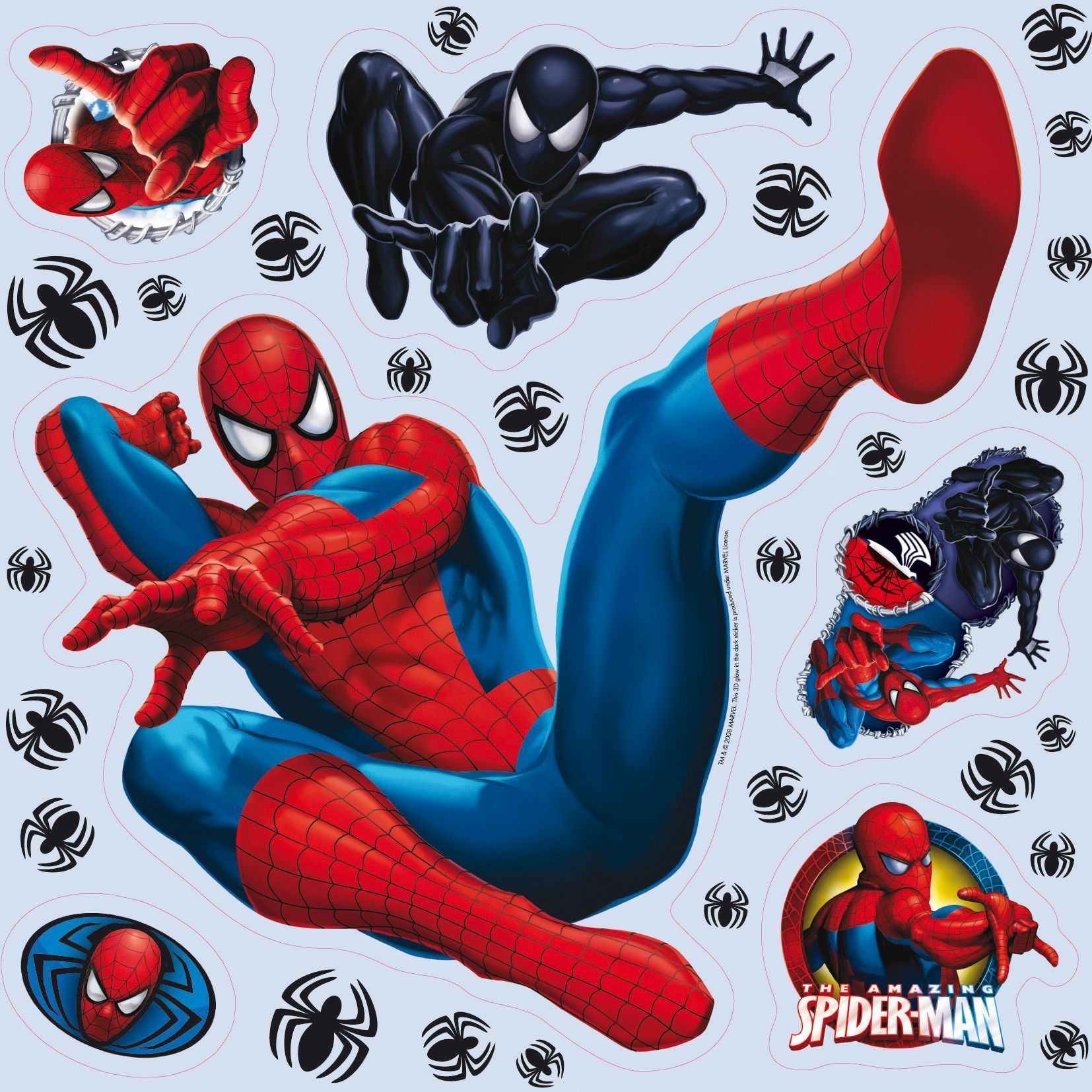 marvel spiderman multicolour self adhesive wall sticker baby colours little sailor blue wall sticker departments