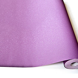 Grandeco Expressions Purple Plain Glitter Effect Wallpaper