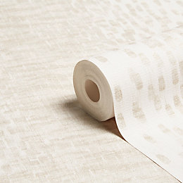 Grandeco Illusion Cream Stripe Wallpaper