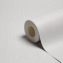 Grandeco Glitz Grey Plain Glitter Effect Wallpaper