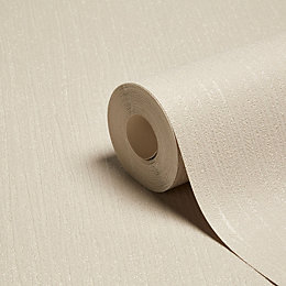 Grandeco Glitz Taupe Plain Glitter Effect Wallpaper