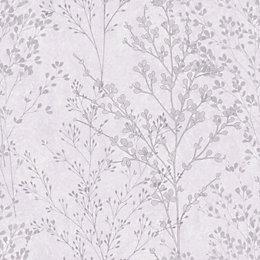 Ideco Home Meadow Garden Wisteria Blossom Wallpaper