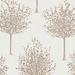 Bloomsbury Cream Forest Glitter Highlight Wallpaper