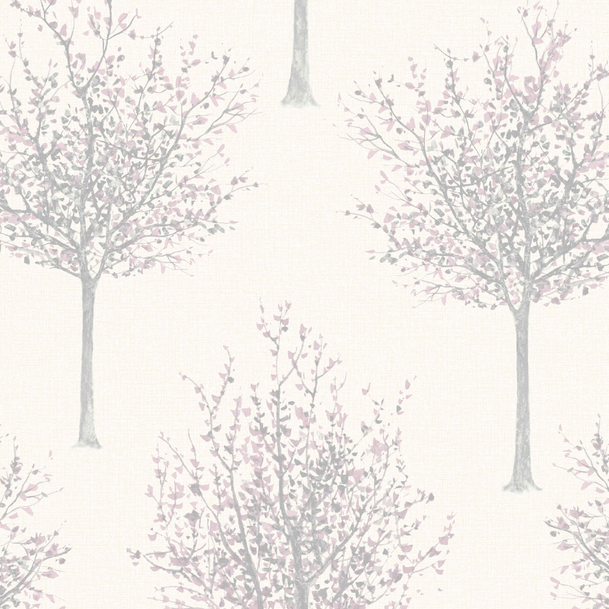 Bloomsbury Cream & Lilac Nature Glitter Highlight Wallpaper