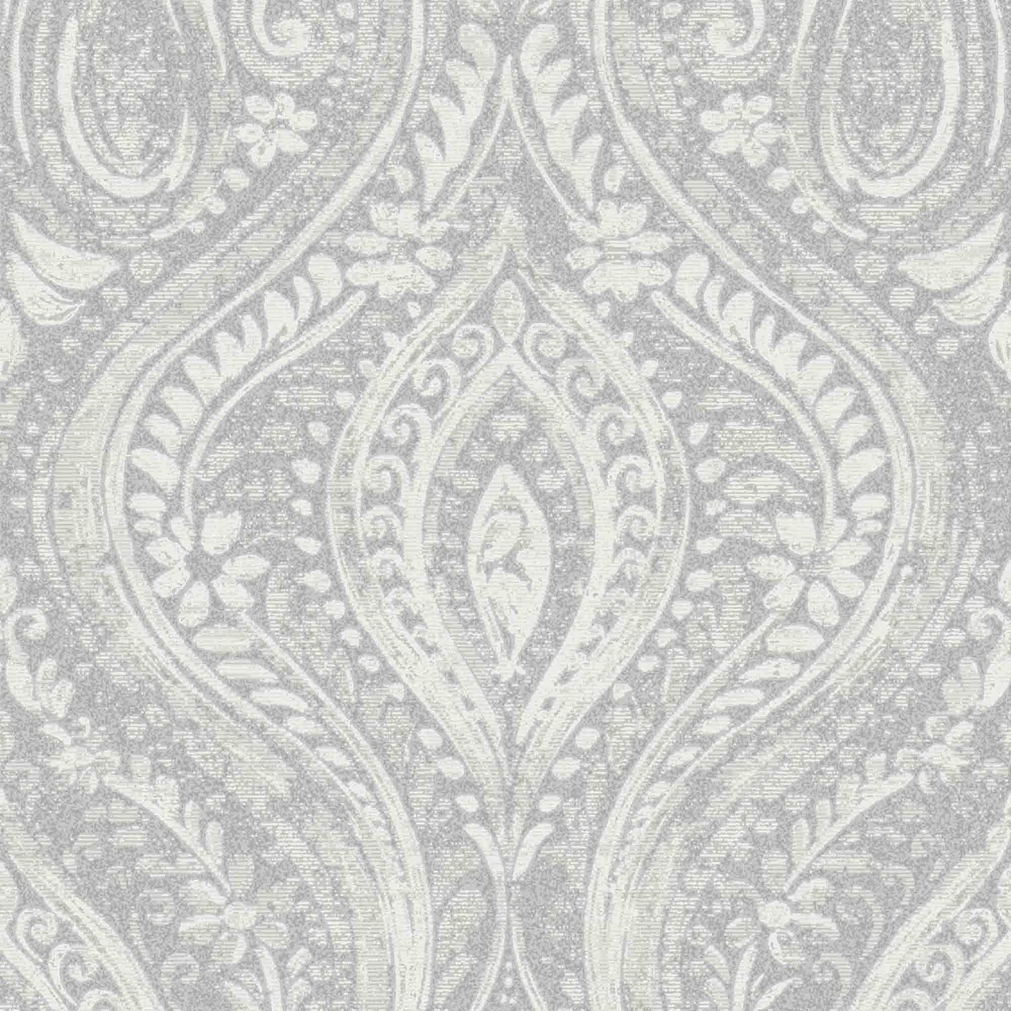 gold anoushka grey damask sheen wallpaper departments. Black Bedroom Furniture Sets. Home Design Ideas