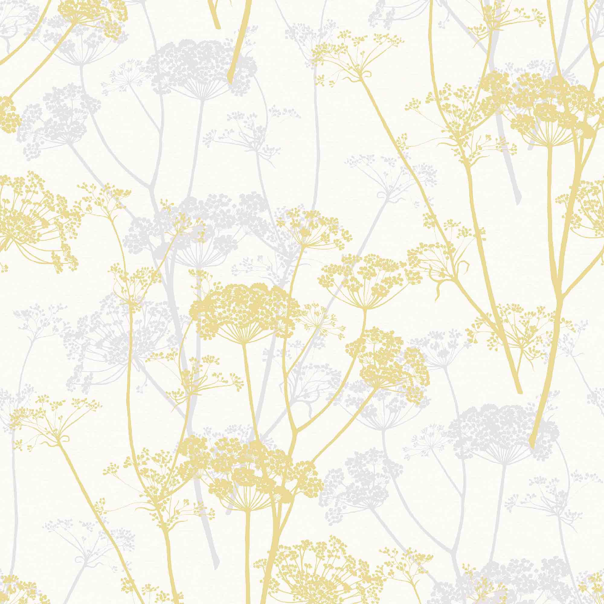 gold ophelia yellow floral glitter wallpaper departments. Black Bedroom Furniture Sets. Home Design Ideas