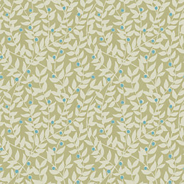 Gold Ola Green Organic Mica Highlight Wallpaper