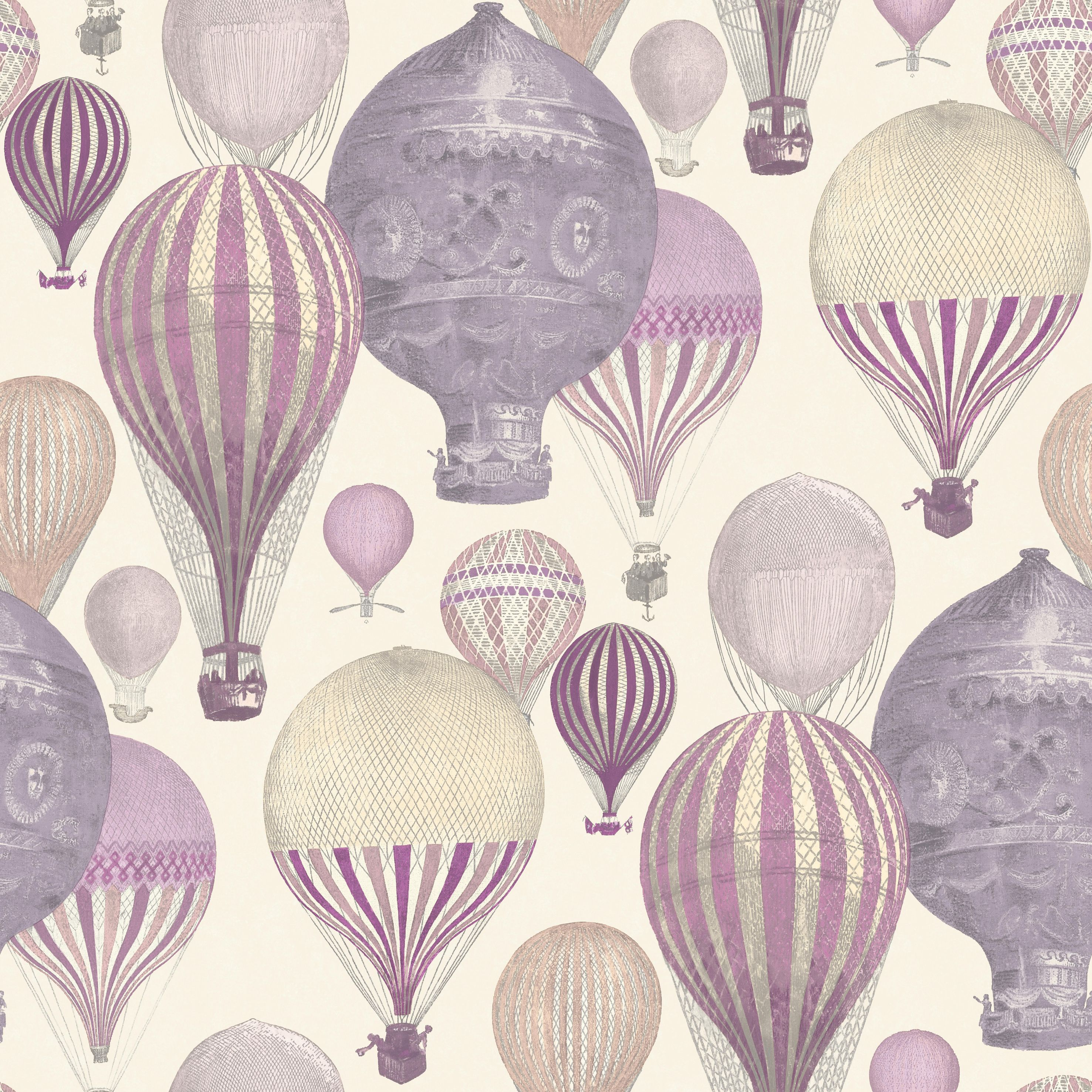 Ideco Home Laurent Pink Amp Purple Hot Air Balloon Wallpaper
