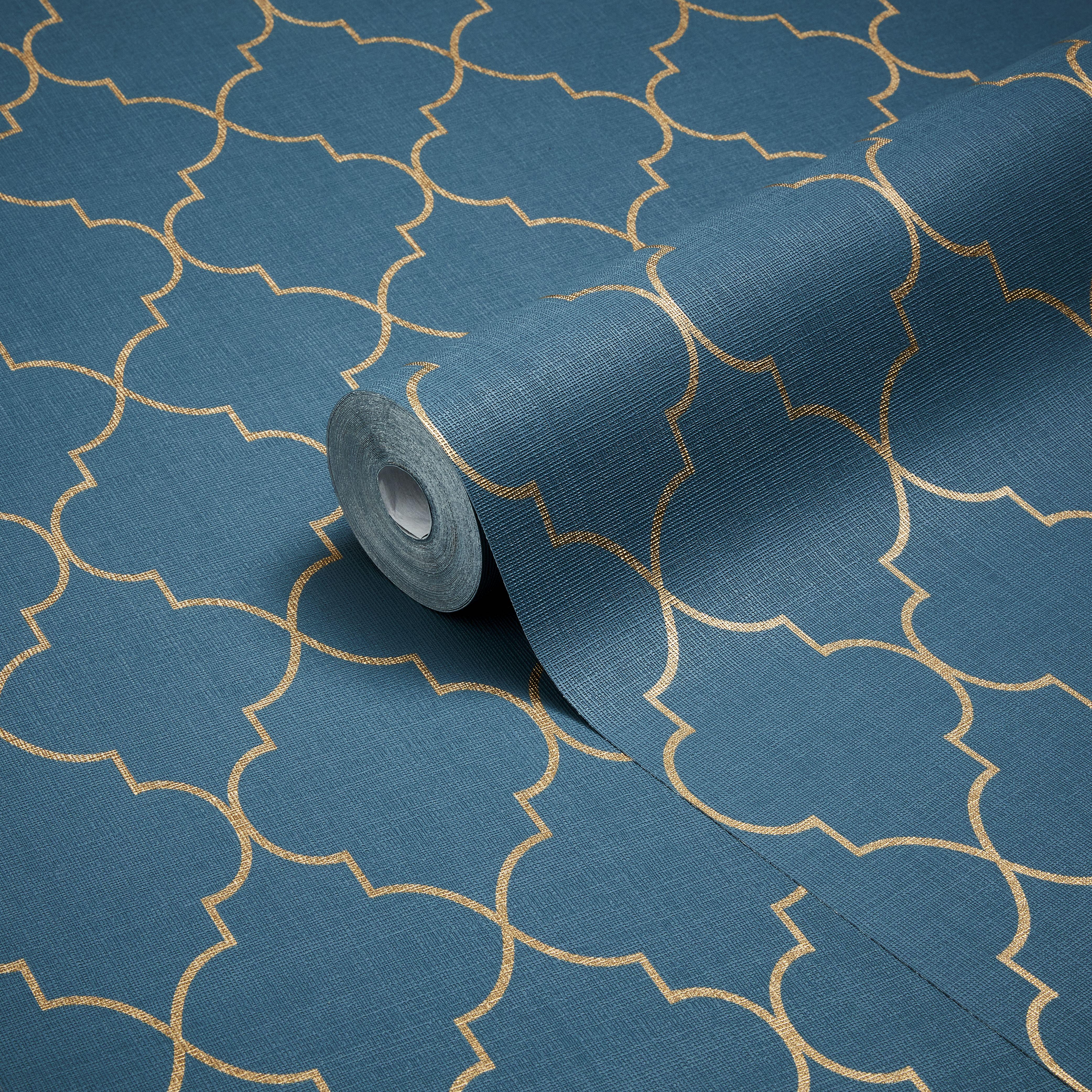 statement jantis grey geometric metallic effect