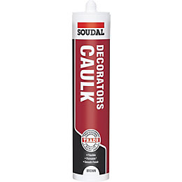 Soudal 380ml Brown Decorators Caulk