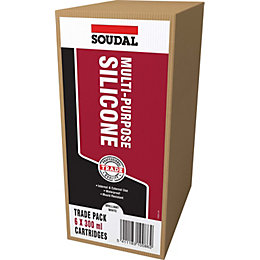 Soudal Multi-Purpose Clear Sealant Pack of 6