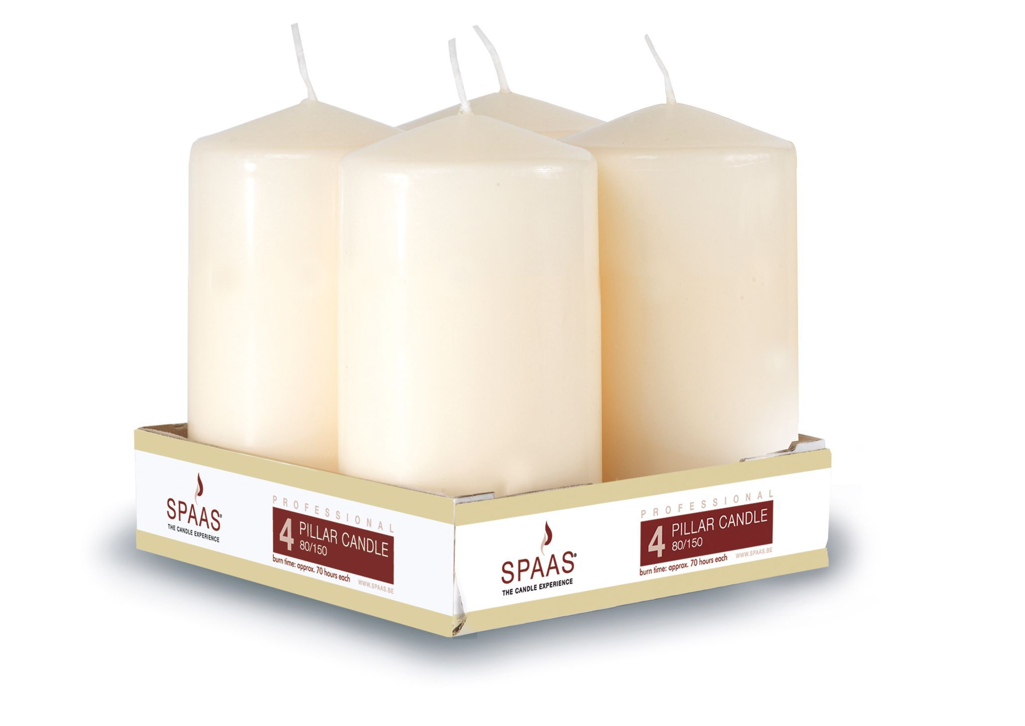 Unscented Pillar Candle, Pack Of 4