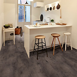 Zinc Carbon Effect Waterproof Luxury Vinyl Click Flooring