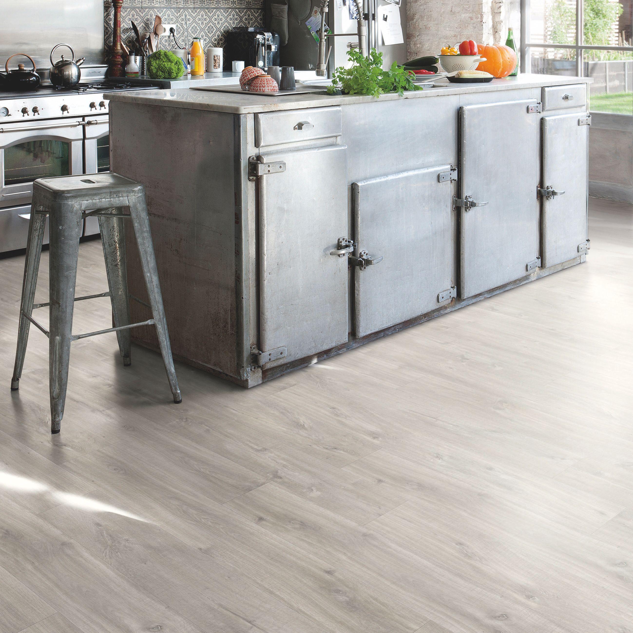 Waterproof Kitchen Flooring Dark Grey Toulon Oak Matt Waterproof Luxury Vinyl Click Flooring