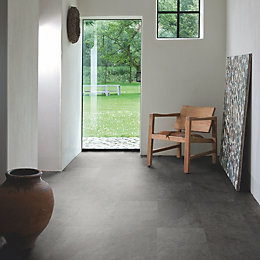 Lima Black Slate Effect Matt Waterproof Luxury Vinyl