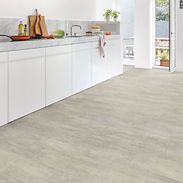 Quick-Step Lima Grey Travertine Effect Waterproof Luxury Vinyl