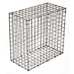 Galvanised Steel Mesh Gabion (H)600mm (W)600mm