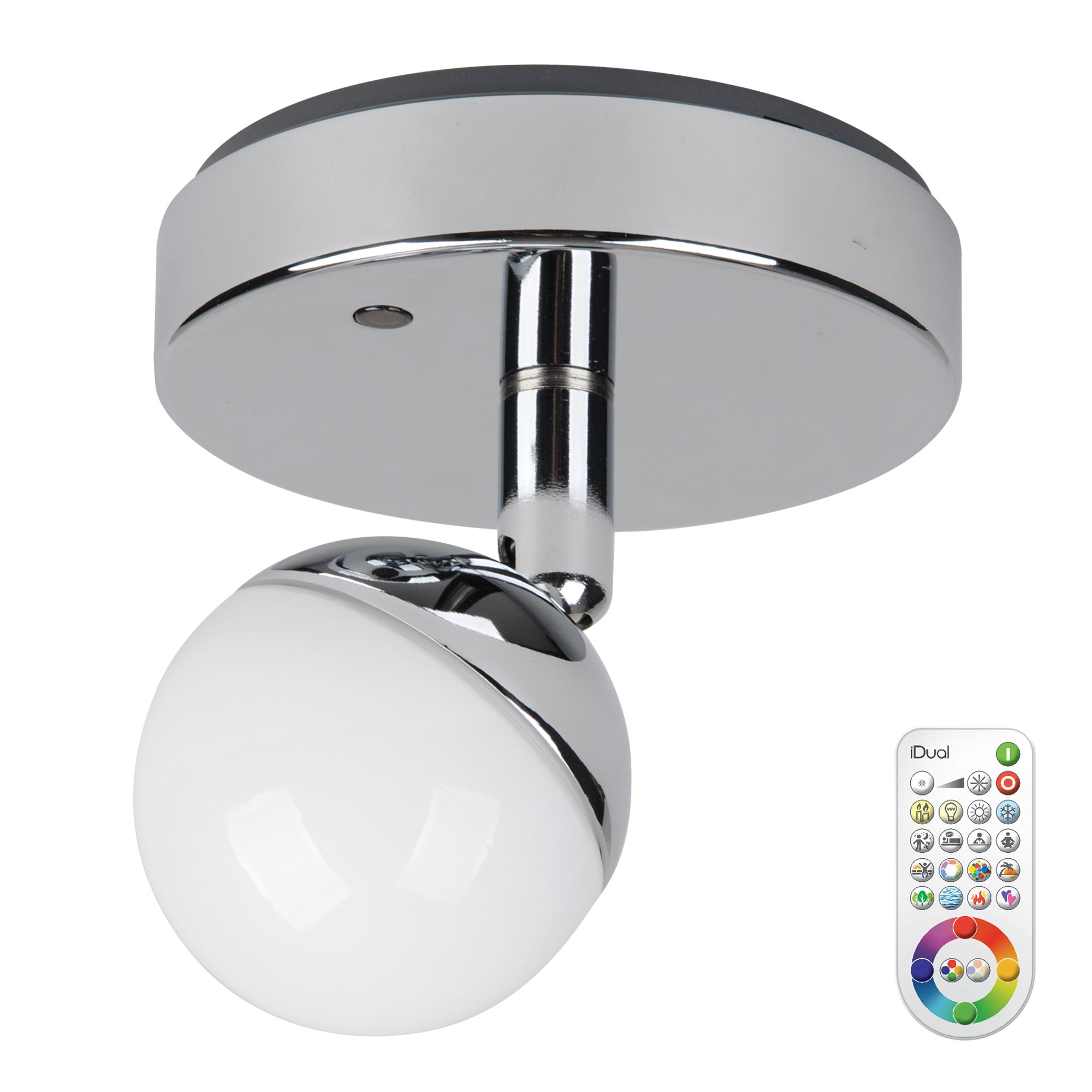 Idual Olivine Chrome Effect Spotlight With Remote