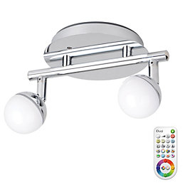 Idual Olivine Chrome Effect 2 Lamp Spotlight with
