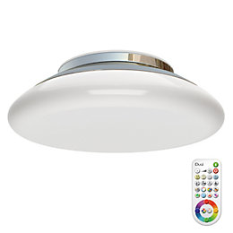 Idual Volta Chrome Effect Ceiling Light with Remote