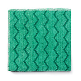 Rubbermaid Microfibre Green Cloth, Pack of 12