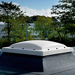 Velux White PVCu Fixed Flat Roof Window (H)1080mm