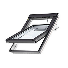 White Timber Centre Pivot Roof Window (H)1180mm (W)1140mm