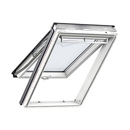 White Timber Top Hung Roof Window (H)980mm (W)550mm