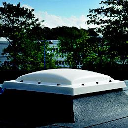 White PVCu Fixed Flat Roof Fixed Window (H)1680mm