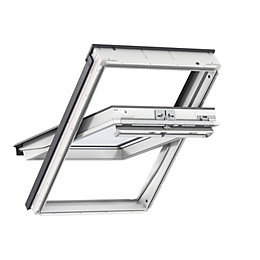 White Timber Centre Pivot Roof Window (H)1340mm (W)980mm