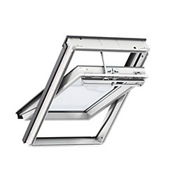White Timber Centre Pivot Roof Window (H)980mm (W)550mm