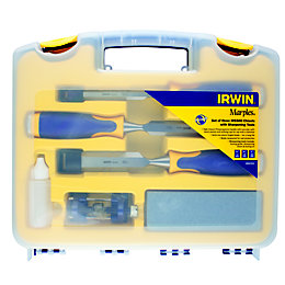 Irwin Chisel & Sharpening Set, Pack of 3