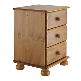 Malmo Stained Pine 3 Drawer Chest (H)581mm (W)441mm