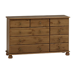 Malmo Stained Pine 3 over 4 Drawer Chest
