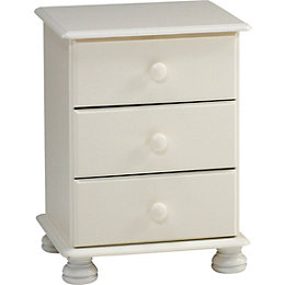 Malmo White 3 Drawer Chest (H)581mm (W)441mm