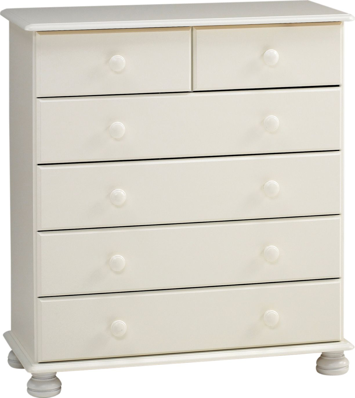 Malmo White 2 Over 4 Chest Of Drawers H 901mm W 823mm