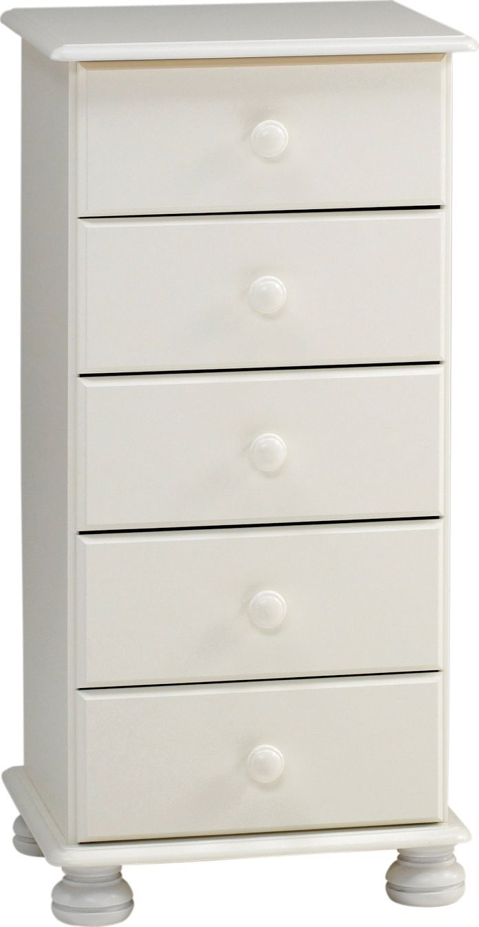 Malmo White 5 Drawer Chest (h)901mm (w)441mm (d)383mm