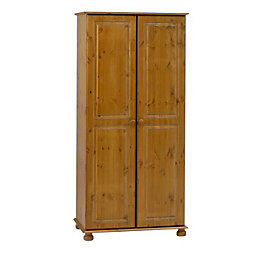 Malmo Stained Pine 2 Door Wardrobe (H)1853mm (W)883mm