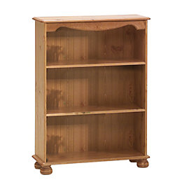 Malmo Stained Pine Bookcase (H)1021mm (W)767mm (D)270mm