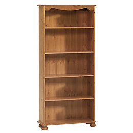 Malmo Stained Pine Bookcase (H)1661mm (W)767mm (D)270mm