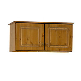 Malmo Stained Pine 2 Door Top Box (H)416mm