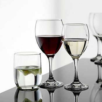 different glasses on a countertop