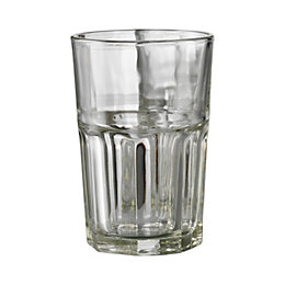 Aida Granite Clear Drinking Glass, Set of 6