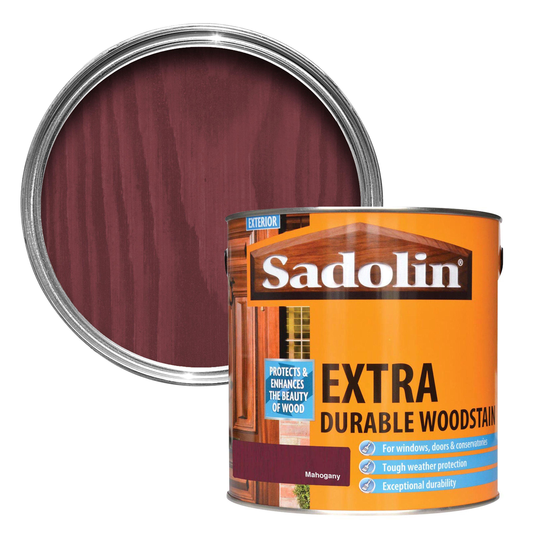 Sadolin Mahogany Woodstain 2 5l Departments Diy At B Q